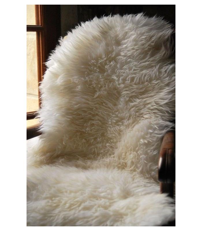 Grandes Peaux de mouton décoration blanc