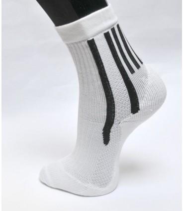 Chaussettes coton sport tennis blanc ou noir lot de 5 paires
