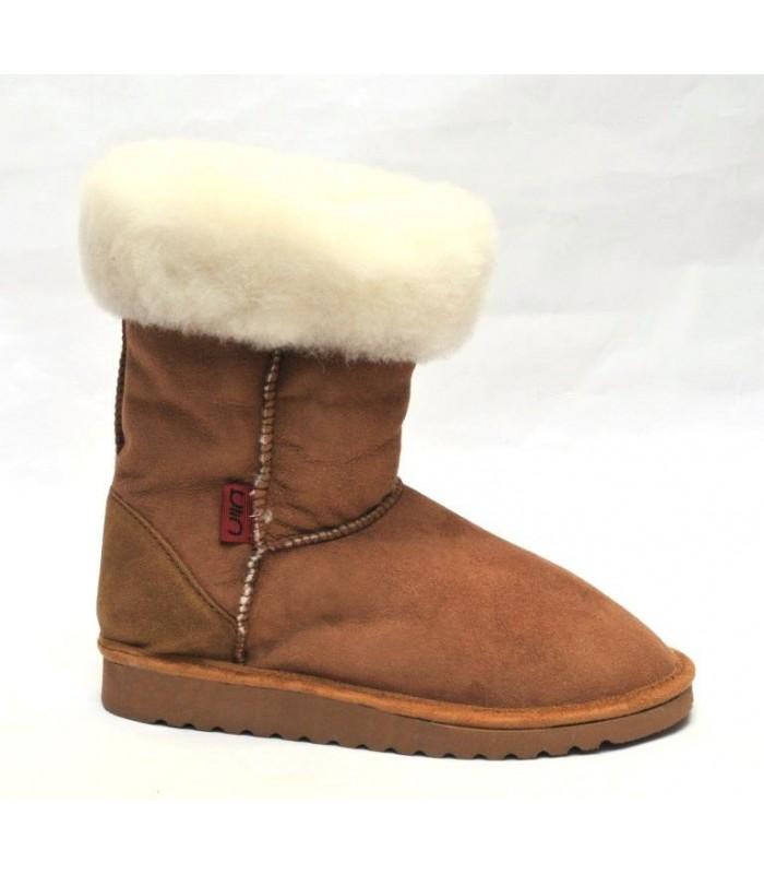 Women's boots in guenuine lambskin