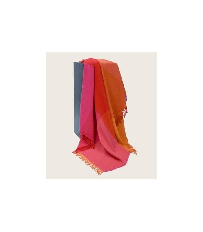 Plaids pure laine mérinos rose, rouge et écru à carreaux b842265e8fe