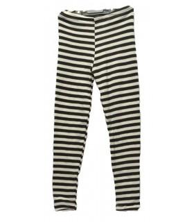 Leggings pyjama enfant laine et soie rayé