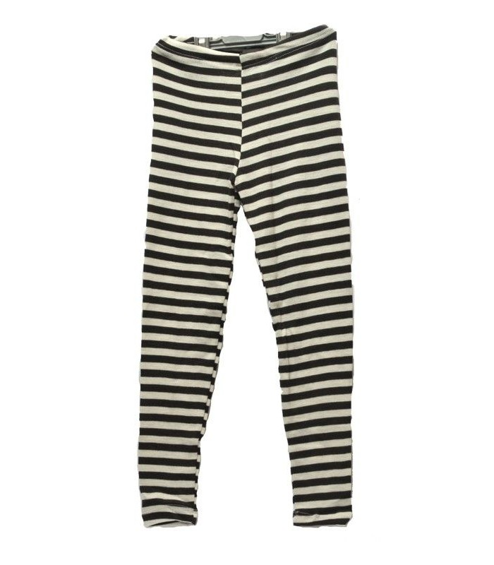 chlidrens' leggings striped in Wool and Silk