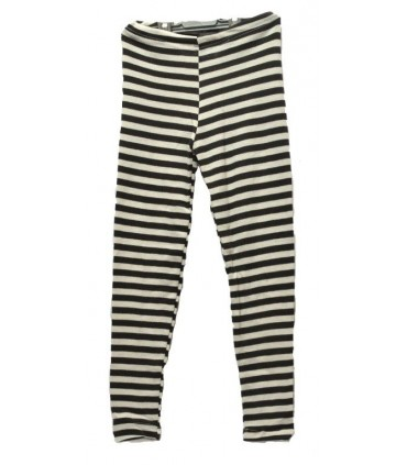 childrens' leggings striped in Wool and Silk