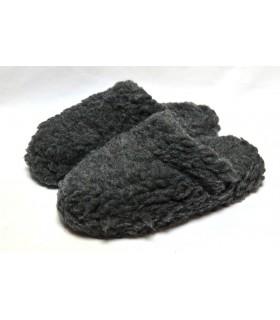 Chaussons mules chauds en laine 100%