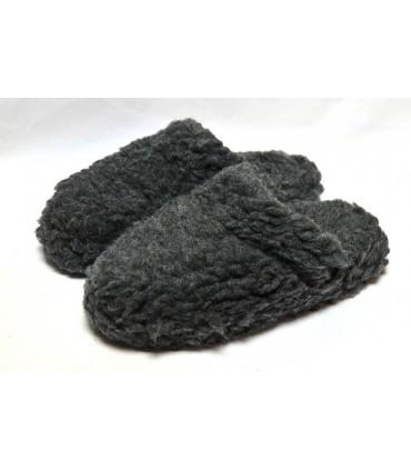 Chaussons mules chauds en pure laine
