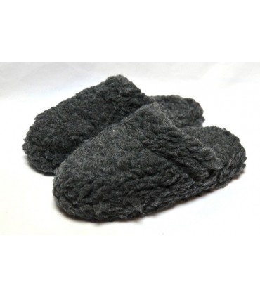 Hot mules slippers in 100% wool