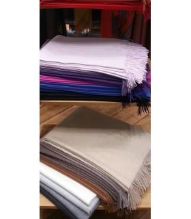 Echarpes unies pure laine baby ALPAGA luxueuses
