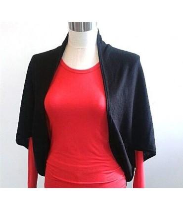 bolero black wool and silk