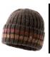 Bonnet Homme laine chiné marron