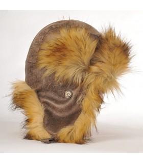 Chapka homme luxueuse marron glaçé