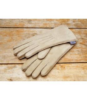 gants luxueux beige