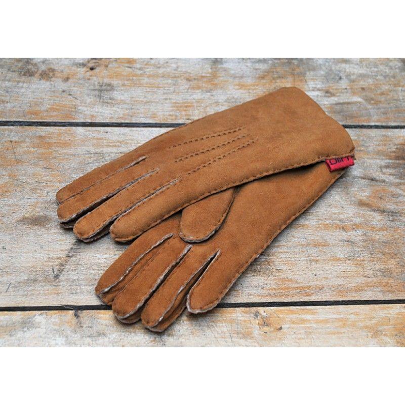 gants aviateur en cuir brun de mouton lain ou peau. Black Bedroom Furniture Sets. Home Design Ideas