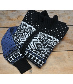 women wool Sweater with Nordic Jacquard