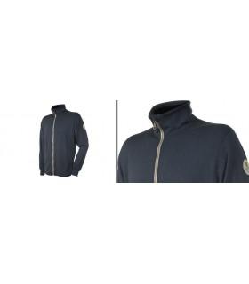 Veste jogging homme 100% laine mérinos gris moyen