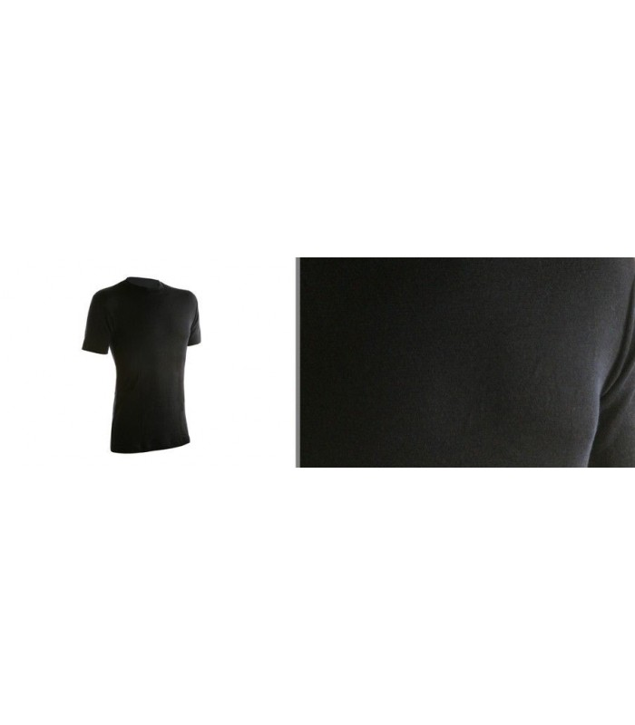 Black men short sleeve merino wool Jersey