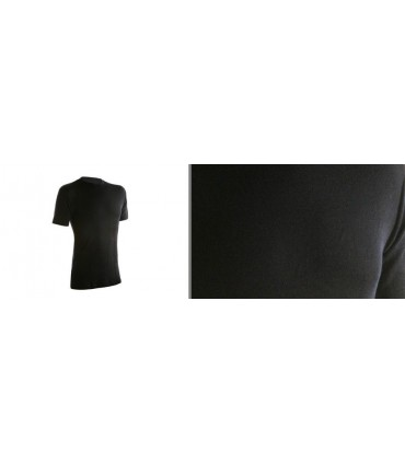 Tee shirt noir homme en pure laine mérinos
