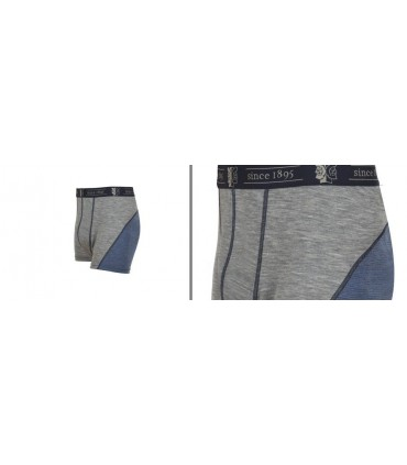 Boxer homme en pure laine mérinos gris ou bleu