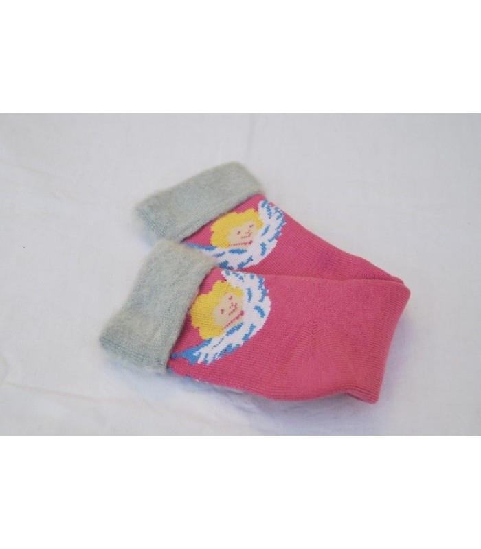 Chaussettes fantaisie Ange rose 36/37