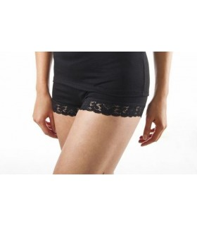 Short leggin chaud femmes noir laine mérinos