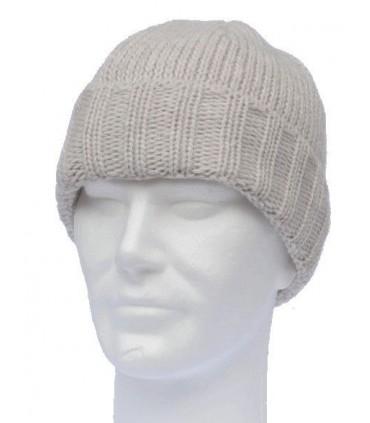 Bonnet en laine homme ou femme à revers