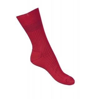 Chaussettes fines laine mérinos non comprimantes rouge