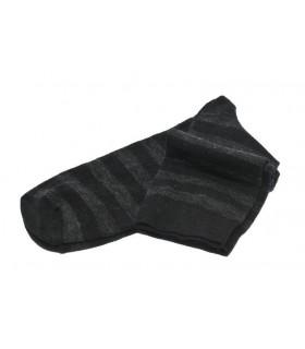 Chaussettes en laine mérinos rayées homme