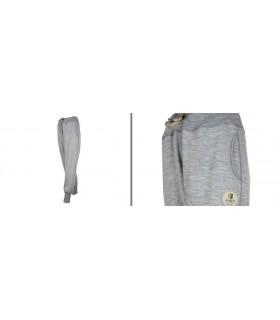 Pantalon Jogging sport femme pure laine mérinos gris
