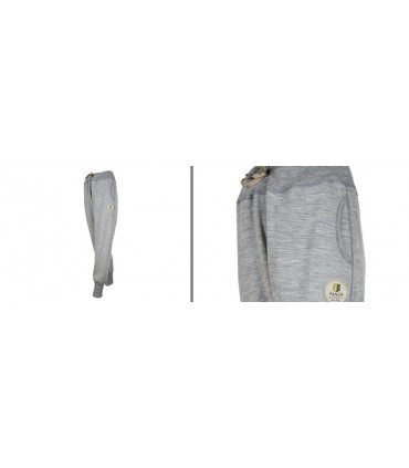 Women's pure merinowool tracksuit pants grey