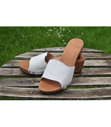 Wooden sandals FLEX leather buckle