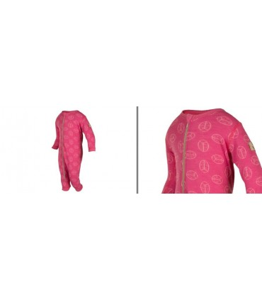 Baby Jumpsuit merino wool pink or blue