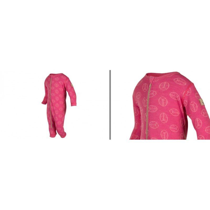 c0205350884f5 Grenouillère bébé laine mérinos rose ou bleu - Esprit Nordique