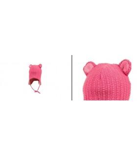 Bonnet bébé laine mérinos rose ou bleu