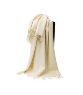 Decken reine Schurwolle und alpaca weiss