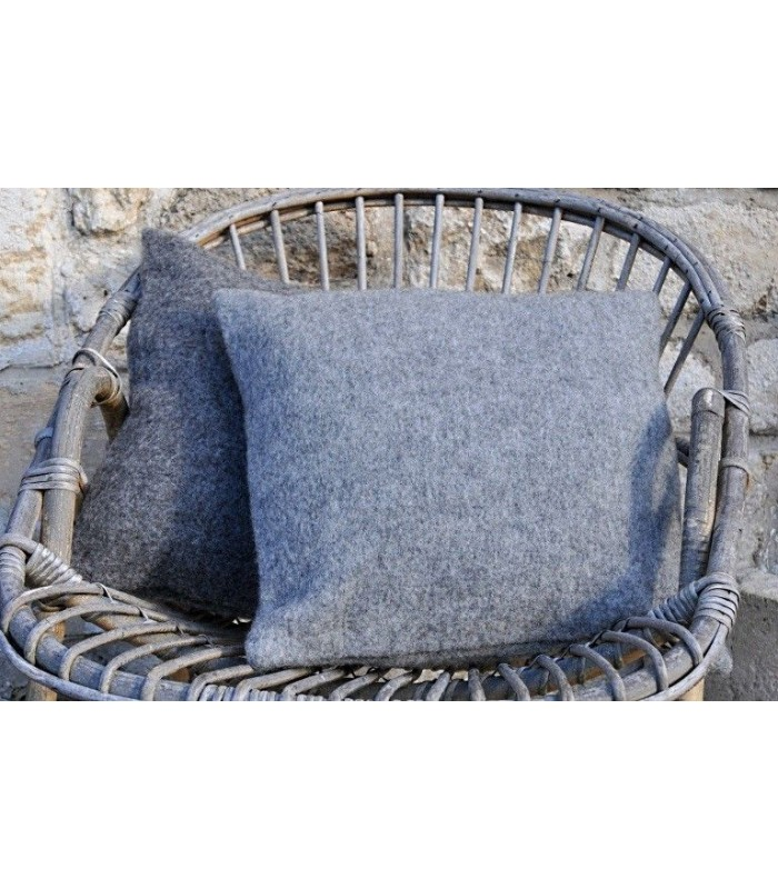 Cushion cover wool dark and middle grey