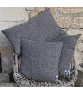 Housse de coussin nordique pure laine dos lin