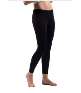 Damen schwarz, cremefarbener wolle und seide Leggings