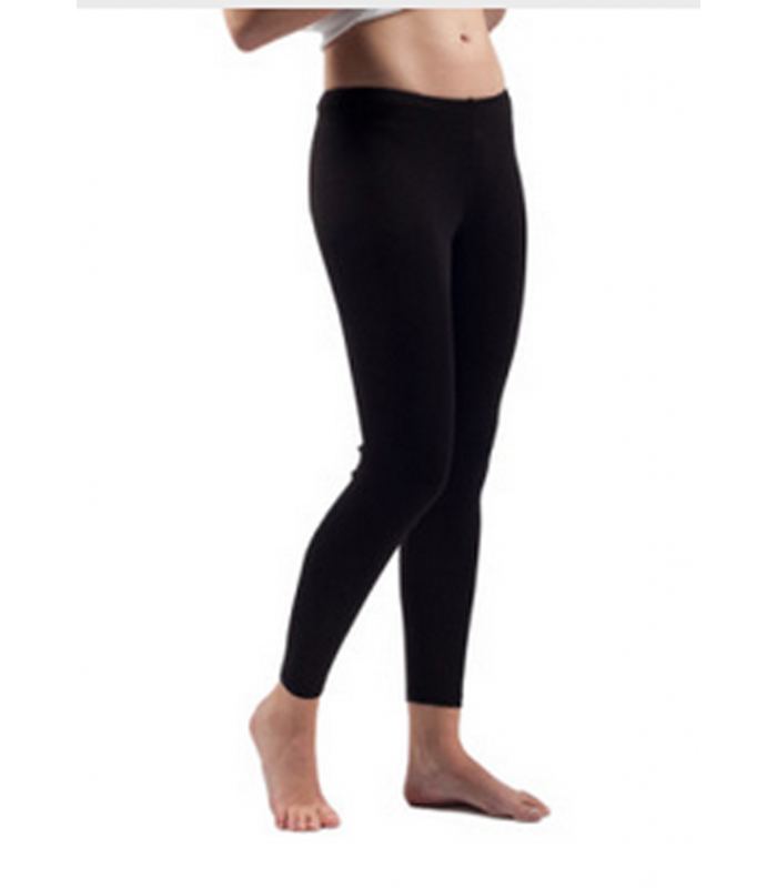 Woman black, off-white Wool and Silk leggings, lace