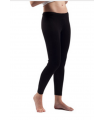 Woman black, off-white Wool and Silk leggings