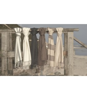 Luxuriösein reiner Wolle Baby Alpaka Schal tartan y gestreife