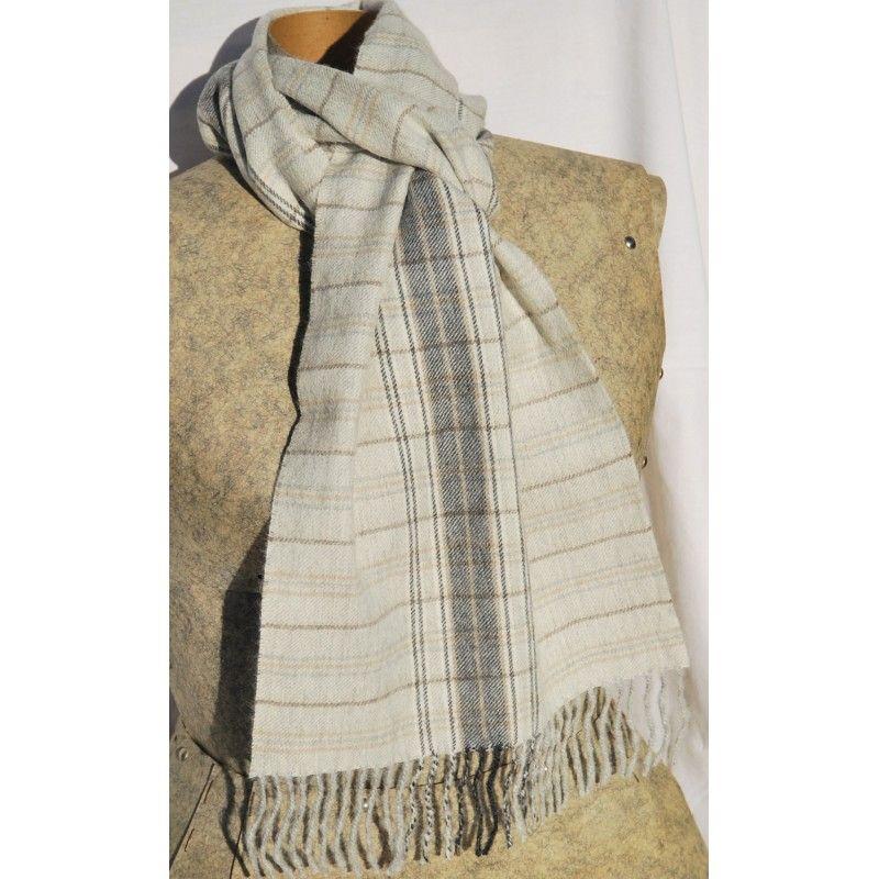 b07fc5002118 Scarves luxurious baby alpaca wool tartan and striped from Peru
