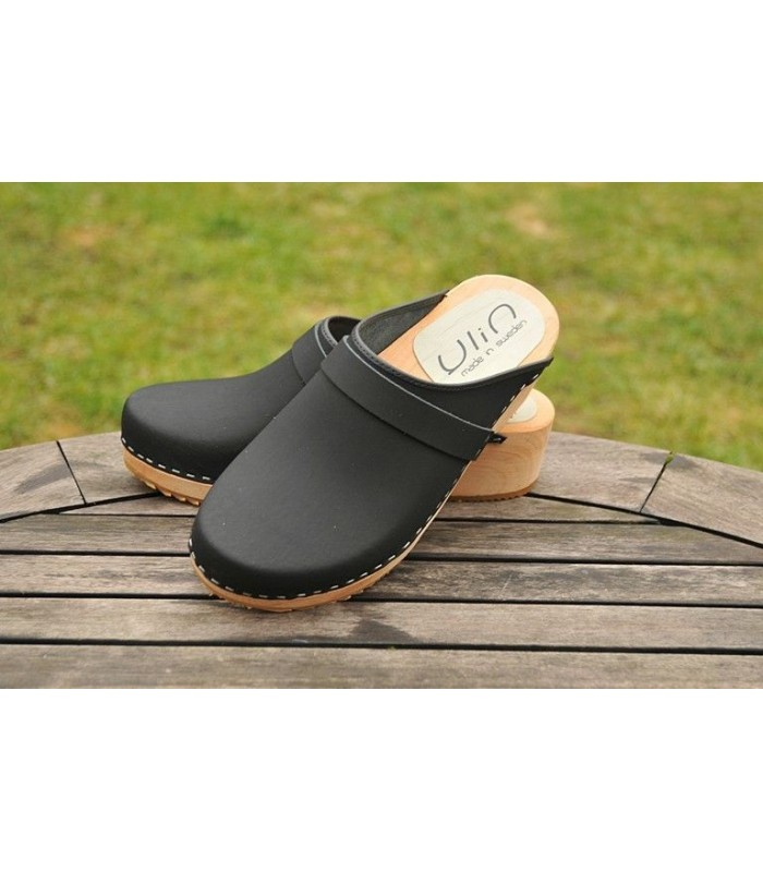 women leather swedish wooden clogs vegetable orange