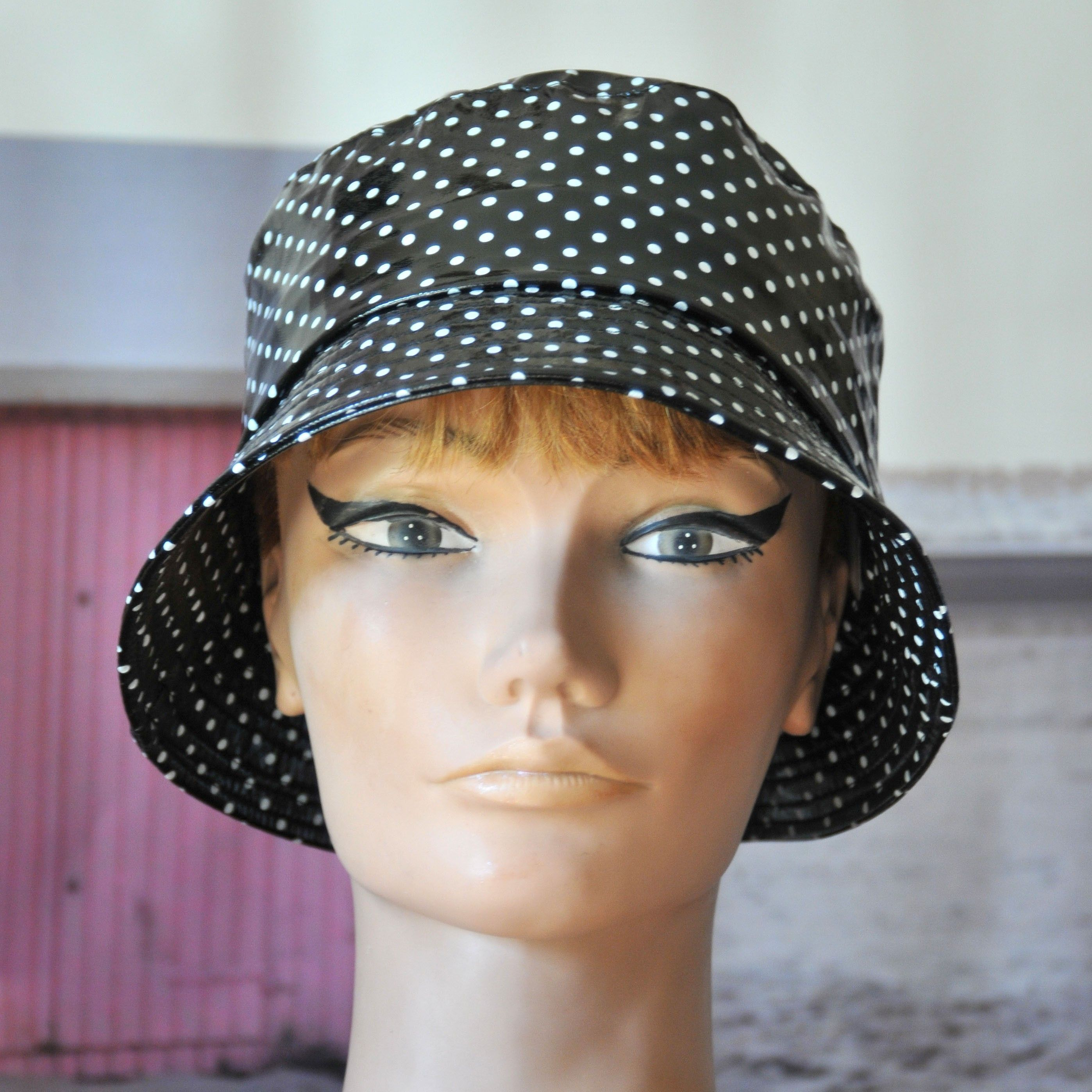 Sombrero de lluvia mujer impermeable aspecto encerado d675a8fa875