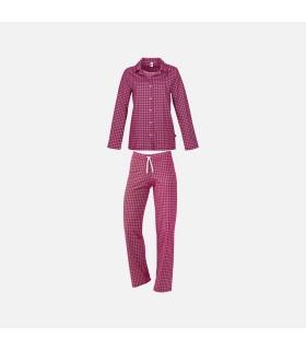 Pyjama en 100% coton super peigné maille jersey framboise