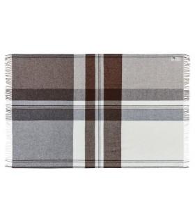 Brown Brown Plaid wool Merino and alpaca wool