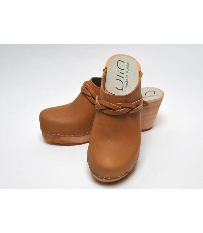 Zuecos de Suecia madera mujer zapatos cuero o nubuck 0ef6741eb02