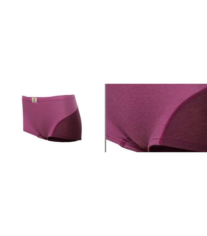 Boxer shorty pure laine mérinos rose framboise