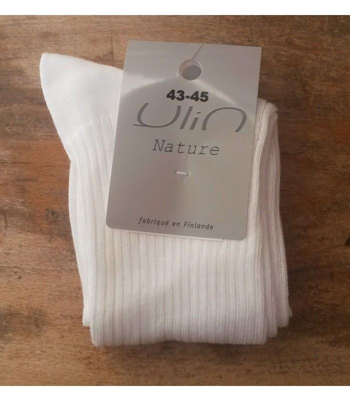 Chaussettes homme pure coton non comprimantes fines