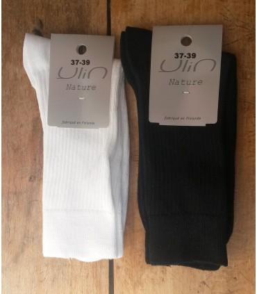 Chaussettes femme pur coton non comprimantes fines