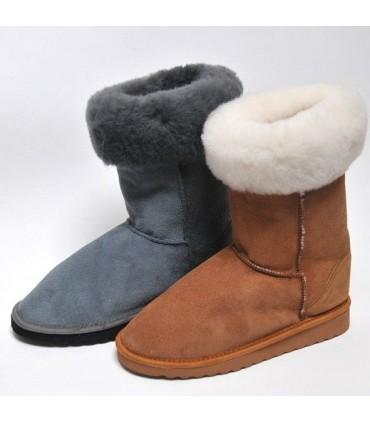 Boots femme en peau d'agneau véritable