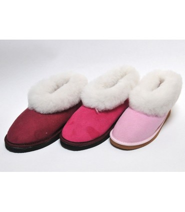Swedish warm slippers for women in lambskin